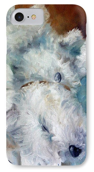 Bed Hog IPhone Case by Mary Sparrow