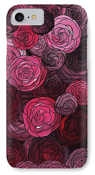 Bed Of Roses With Black Lace IPhone Case