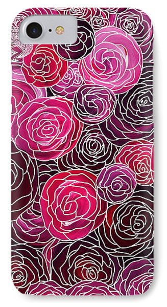Bed Of Roses With White Lace IPhone Case
