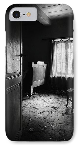IPhone Case featuring the photograph Bed Room Chair - Abandoned Building by Dirk Ercken