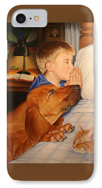 Bed Time Prayers IPhone Case by Mike Ivey