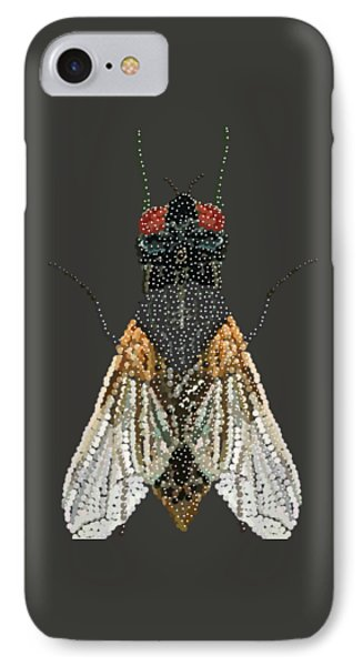 Bedazzled Housefly Transparent Background IPhone Case by R  Allen Swezey