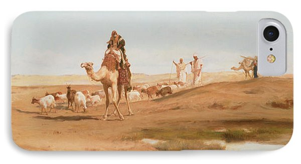 Bedouin In The Desert IPhone Case by Frederick Goodall