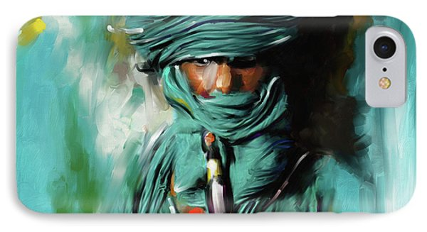 Bedouin Man 453 I IPhone Case by Mawra Tahreem