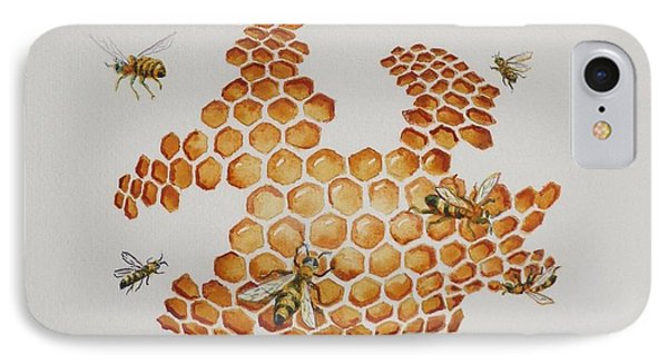 IPhone Case featuring the painting Bee Hive # 1 by Katherine Young-Beck