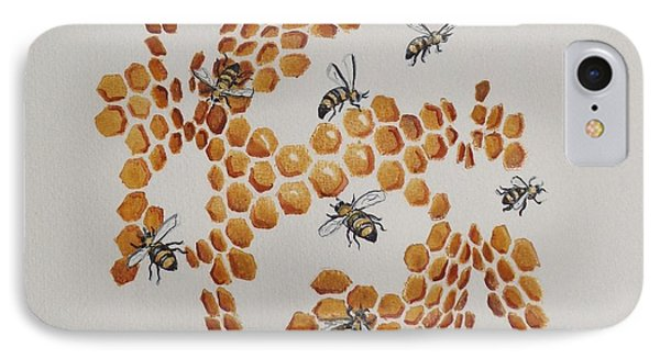 IPhone Case featuring the painting Bee Hive # 2 by Katherine Young-Beck