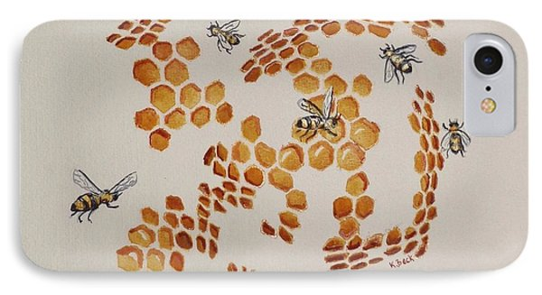 IPhone Case featuring the painting Bee Hive # 3 by Katherine Young-Beck
