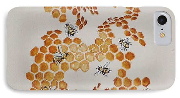 IPhone Case featuring the painting Bee Hive # 5 by Katherine Young-Beck