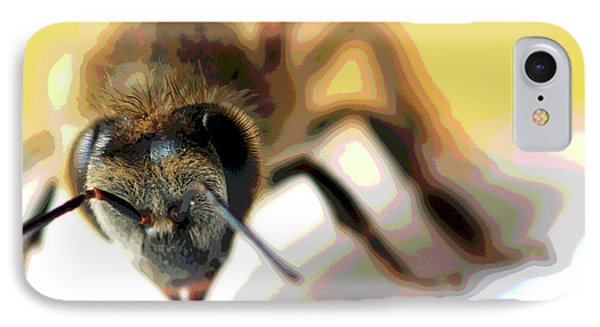 Bee In Macro 5 IPhone Case by Micah May