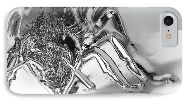 IPhone Case featuring the photograph Bee In Macro Chrome by Micah May