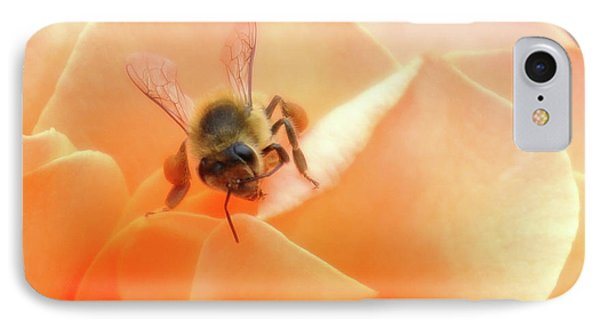 Bee On Flower Phone Case by Matthew Bamberg