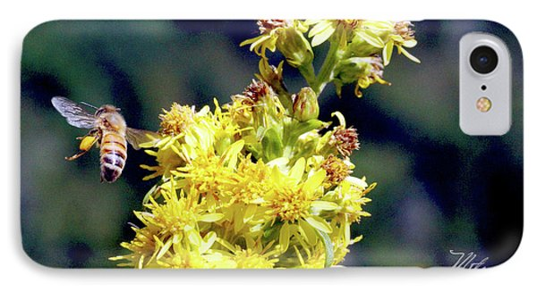 Bee On Goldenrod IPhone Case