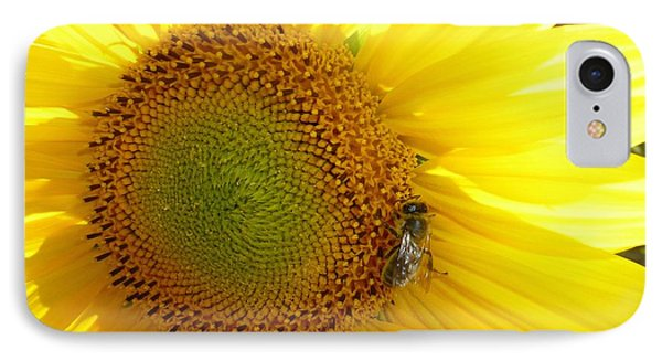 IPhone Case featuring the photograph Bee On Sunflower by Jean Bernard Roussilhe