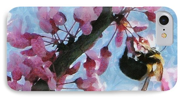 Bee To The Blossom Phone Case by Jeff Kolker