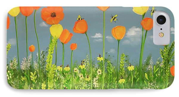 Bee-utiful Day IPhone Case by Carol Sweetwood