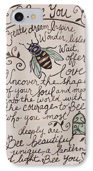 Bee You IPhone Case by Elizabeth Robinette Tyndall