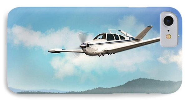 Beechcraft Bonanza V Tail IPhone Case by John Wills