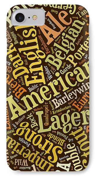 Beer Lover Cell Case IPhone 7 Case by Edward Fielding