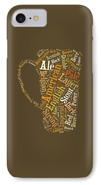 Beer iPhone 7 Case - Beer Lovers Tee by Edward Fielding