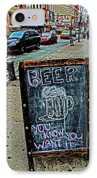 Beer Sign IPhone Case by Sandy Moulder
