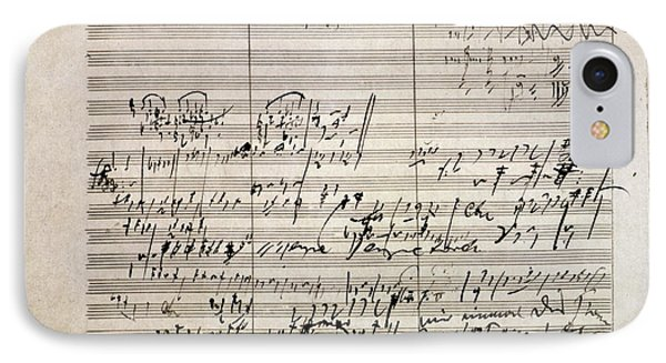 Beethoven Manuscript Phone Case by Granger