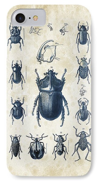 Beetles - 1897 - 02 IPhone Case by Aged Pixel