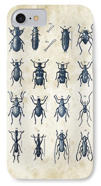 Beetles - 1897 - 03 IPhone Case by Aged Pixel