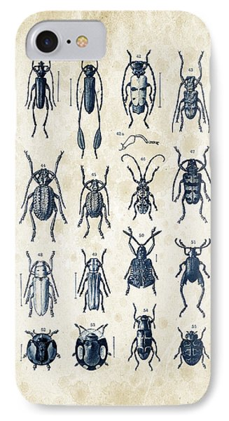 Beetles - 1897 - 04 IPhone Case by Aged Pixel