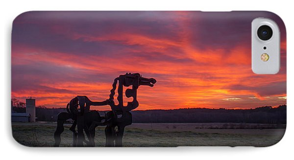 Before Sun Up The Iron Horse Collection Art IPhone Case