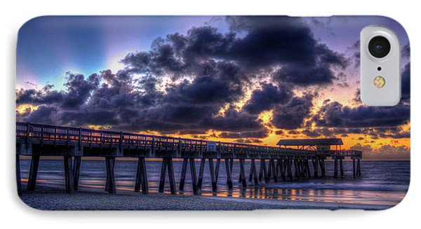 Before The Dawn Tybee Island Pier Georgia Art IPhone Case by Reid Callaway