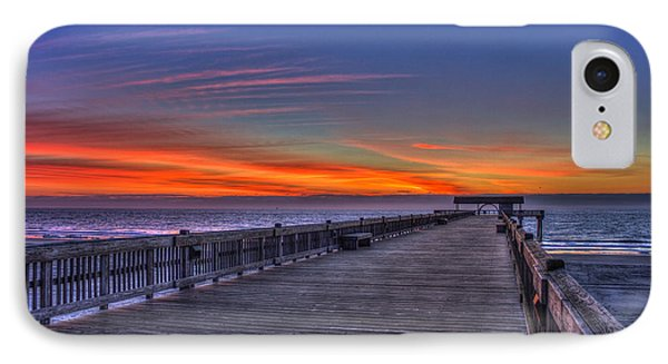 Before The Dawn Tybee Island Pier Art IPhone Case by Reid Callaway