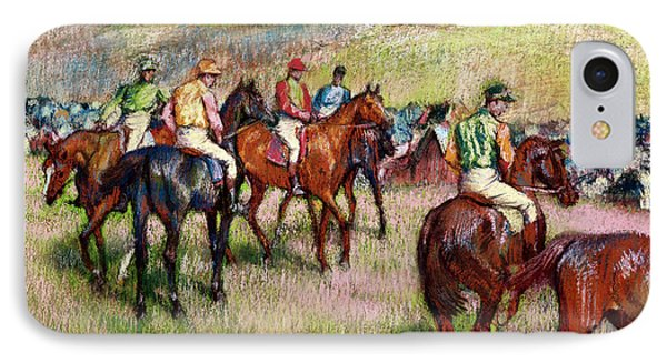Before The Race IPhone Case by Edgar Degas