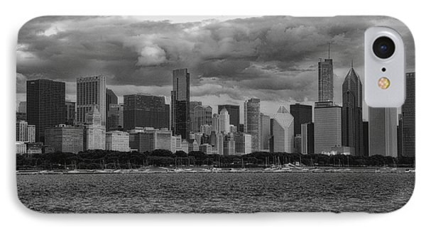 Before The Spring Storm Chicago Lakefront Bw 01 IPhone Case
