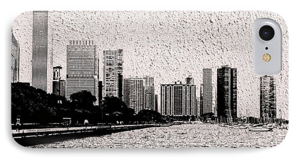 Before The Spring Storm Chicago Lakefront Bw 02 IPhone Case