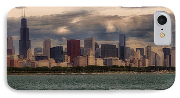 Before The Spring Storm Chicago Lakefront Panorama 01 IPhone Case