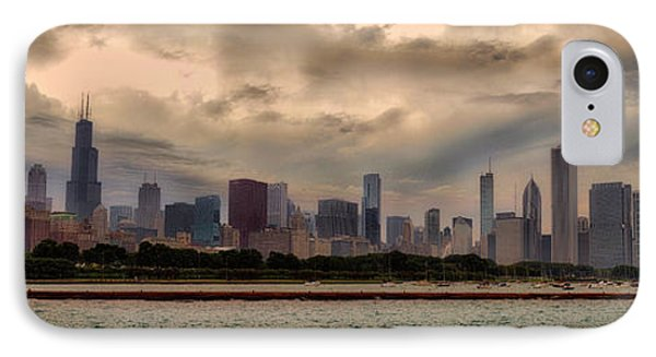 Before The Spring Storm Chicago Lakefront Panorama 02 IPhone Case
