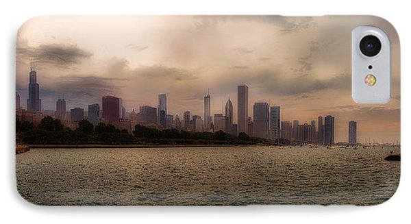 Before The Spring Storm Chicago Lakefront Panorama 03 IPhone Case