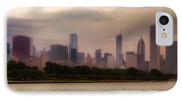 Before The Spring Storm Chicago Lakefront Panorama 04 IPhone Case by Thomas Woolworth