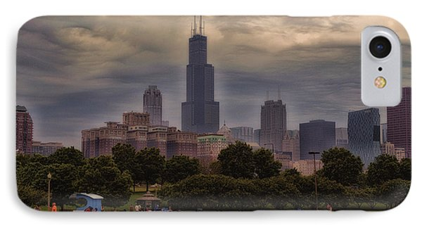 Before The Spring Storm Chicago Sears Willis Tower 01 IPhone Case