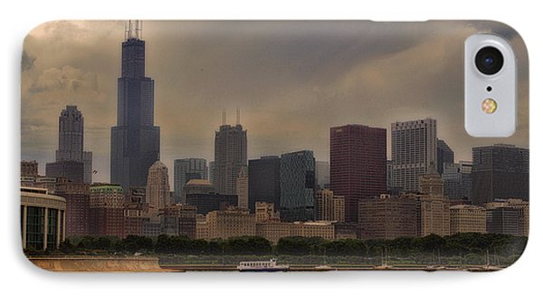 Before The Spring Storm Chicago Sears Willis Tower 02 IPhone Case