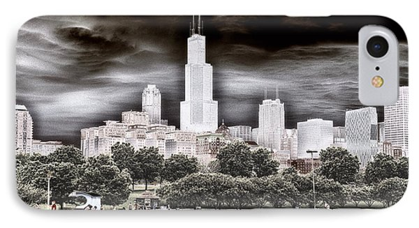 Before The Spring Storm Chicago Sears Willis Tower Textured IPhone Case