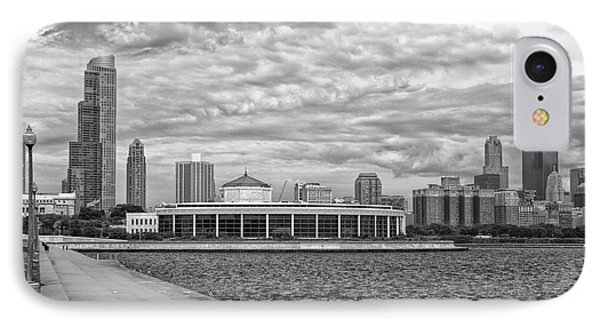 Before The Spring Storm Chicago Shedd Aquarium Bw 01 IPhone Case