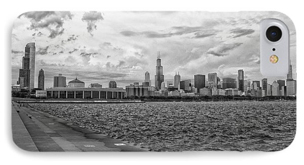 Before The Spring Storm Chicago Shedd Aquarium Bw 02 IPhone Case