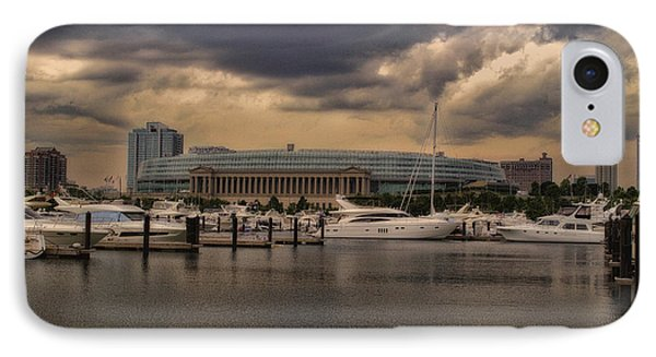Before The Spring Storm Chicago Soldier Field 01 IPhone Case