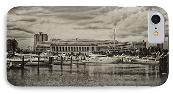 Before The Spring Storm Chicago Soldier Field Antique IPhone Case