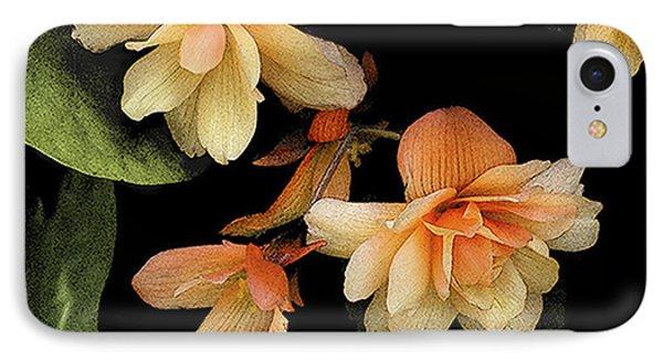 Begonias 2 IPhone Case by Janis Nussbaum Senungetuk