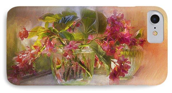 Begonias IPhone Case by John Rivera