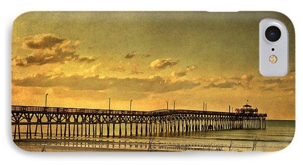 Behind Cherry Grove Pier  IPhone Case by Trish Tritz