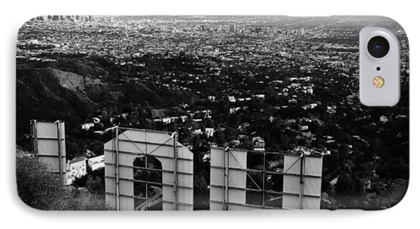 Behind Hollywood Bw IPhone Case