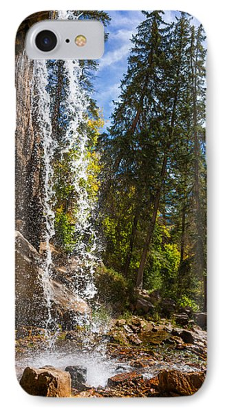 Behind Spouting Rock Waterfall - Hanging Lake - Glenwood Canyon Colorado IPhone Case by Brian Harig